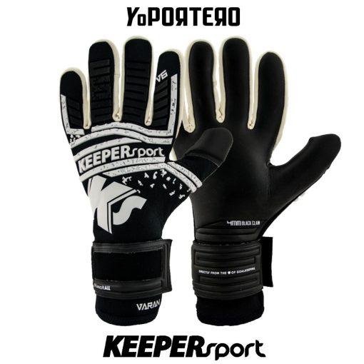 Guantes de portero KEEPERsport Varan6 Champ NC Blackout