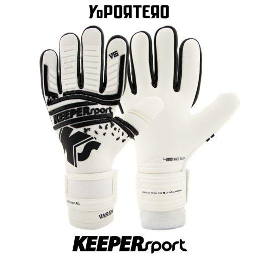Guantes de portero KEEPERsport Varan6 Champ NC Whiteout