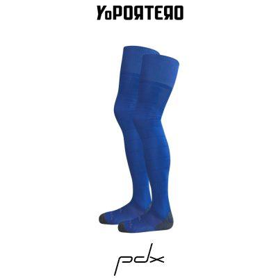 Tienda online de medias de portero PDX GK azul.